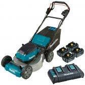 MAKITA 36V (18Vx2) Brushless 534mm Self-Propelled Lawn Mower Kit DLM532PT4X