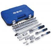 HRD 63 Piece 1/4in, 3/8in &  1/2in Drive Socket Set HMXVS63