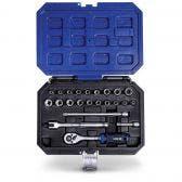 HRD 23 Piece 1/4in Drive Socket Set H14VS23