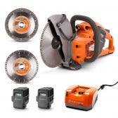HUSQVARNA 36v 2 x 5.2Ah 9inch Demolition Saw w. Blades Kit TTKIT764