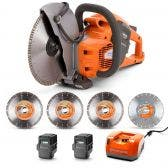 HUSQVARNA 36v 2 x 5.2Ah 9inch Demolition Saw w. Blades Kit TTKIT765