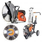 HUSQVARNA 400mm Demolition Saw K970 w. Trolley Kit TTKIT772
