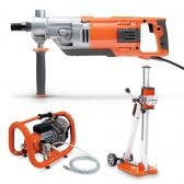 HUSQVARNA 230v Handheld Drill DM220 w. Stand & Pump Kit TTKIT774