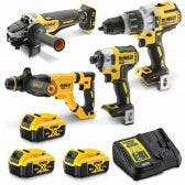 DEWALT 18V Brushless 4 Piece 3 x 5.0Ah Combo Kit DCZ497P3-XE