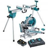 MAKITA 18Vx2 Brushless 2 x 5.0Ah AWS Compound Saw w. Mitre Saw Stand DLS211PT2UWST06