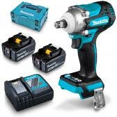 MAKITA 18V Brushless 2 x 5.0Ah Impact Wrench Friction Ring Kit DTW300RTJ