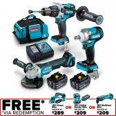 MAKITA 18V Brushless 3 Piece 2 x 5.0Ah Combo Kit DLX3133T