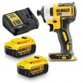 DEWALT 18V Brushless 2 x 4.0Ah Impact Driver Kit DCF787M2T-XE