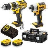 DEWALT 18V Brushless 2 Piece 2 x 4.0ah Combo Kit DCK2066M2TXE