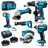 MAKITA 18V 6 Piece 2 x 3.0Ah Combo Kit DLX6102X1