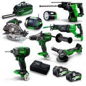 HiKOKI 18V Brushless 8 Piece 2 x 2.5Ah/5.0Ah Combo Kit KC36D8P(HRZ)