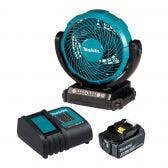 MAKITA 18V 180mm Jobsite Fan Kit with Auto Shut-Off Inflator DCF102ST