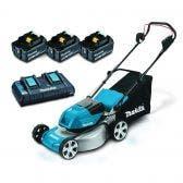 MAKITA 36V Brushless 3 x 5.0Ah 460mm Lawn Mower Kit DLM464PT3