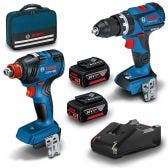 BOSCH 18V 2 Piece 2 x 4.0Ah Brushless Combo Kit 0615991FH5