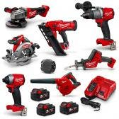 MILWAUKEE 18V Brushless 7 Piece 3 x 5.0Ah Combo Kit M18FPP7F2503B