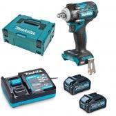 MAKITA 40V Brushless 2 x 4.0Ah Impact Wrench Kit TW004GM203