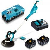 MAKITA 18V Brushless AWS 2 x 5.0Ah 225mm Drywall Sander Kit DSL801TUX2