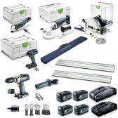 FESTOOL 18V 5 Piece Brushless 2 x 5.2Ah & 2 x 6.2Ah Renovators Starter Combo Kit F28729