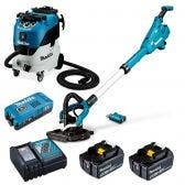 MAKITA 18V Drywall Sander & Vacuum Brushless Combo Kit DSL800RTVC42L