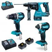 MAKITA 18V Brushless 3 Piece 2 x 5.0Ah Combo Kit DLX3137TX1